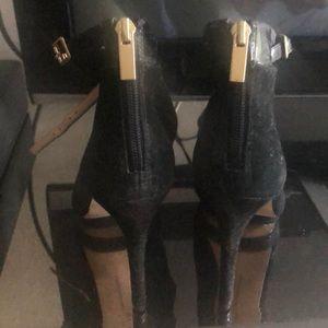 INC Black suede platform shoe